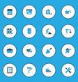 industry colorful icons set collection of putty vector image vector image