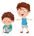 kid shouting his friend vector image
