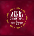 merry christmas typography design vector image