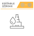 oil well line icon vector image