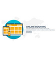 online booking planning of vacation travel vector image