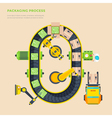 Packaging Line Top View Poster vector image vector image