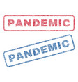 pandemic textile stamps vector image vector image