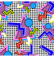 pattern 80s composition vector image
