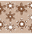 pattern of christmas cookies with snowflakes vector image