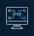 pc with stem text concept outline colored vector image vector image