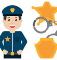 people worker profession card vector image vector image
