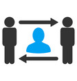 persons friend exchange icon vector image vector image