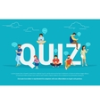 Quiz concept of young people using vector image vector image