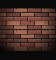red brick wall texture background vector image