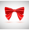Red festive bow vector image vector image