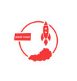 red mission to mars logo vector image vector image