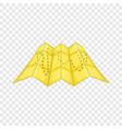 road map icon cartoon style vector image vector image
