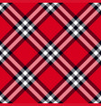 scottish plaid in red black white vector image vector image