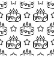 seamless birthday cake pattern line cakes with vector image vector image