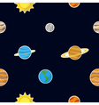 Seamless pattern with Planets vector image vector image