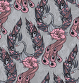 Seamless pattern with the swans vector image vector image