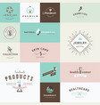 set flat design signs vector image vector image