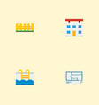set of property icons flat style symbols with vector image