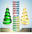 Set of Ribbon xmas Design Elements vector image