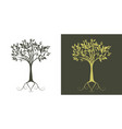 silhouette stylized tree on white background and vector image vector image