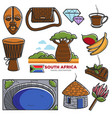 south africa travel tourism landmarks and african vector image vector image