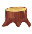 stump cut icon natural industry rough timber vector image vector image