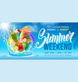 summer weekend party flyer template vector image vector image