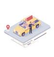 taxi service taxi app vector image