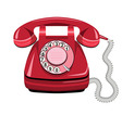 Telephone icon red vector image vector image