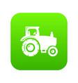 tractor icon green vector image vector image
