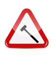 Traffic Sign isolated on white background vector image vector image