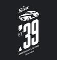 vintage vehicle tee-shirt logo vector image vector image
