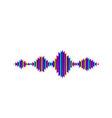 wave sound background music flow soundwave vector image vector image