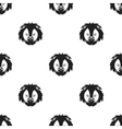 Circus lion icon in black style isolated on white vector image