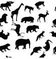 wild animals seamless pattern background vector image