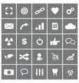 Universal Flat Icons Set 4 vector image