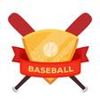 emblem baseball single icon in cartoon style vector image