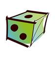 A dice vector image vector image
