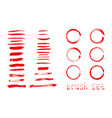 abstract background ink brush strokes with rough vector image vector image