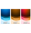 abstract waves background for brochures and flyers vector image