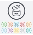After opening use 9 months sign icon vector image vector image