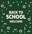 back to school sale template design vector image