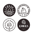 Bakery logotypes Cakes cupcakes pastry vector image vector image