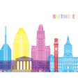 Baltimore V2 skyline pop vector image vector image
