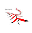baseball background lace from a vector image vector image