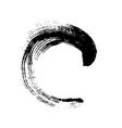 black grunge round brushstroke vector image vector image