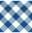 blue and white argyle tablecloth seamless pattern vector image