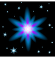 Bright glowing Christmas star vector image