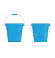 buckets icon set vector image vector image